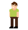 male character icon vector image vector image