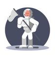 man cosmonaut in helmet vector image vector image