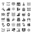 merry christmas icon set 3 glyph design vector image vector image