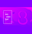 modern woman day abstract background vector image