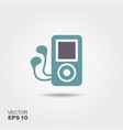 mp3 player headphones icon in flat style isolated vector image vector image