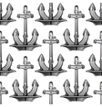 Nautical stockless anchors seamless pattern vector image vector image