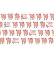 new year 2019 seamless pattern with five pigs vector image