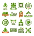 Organic And Natural Labels Set vector image vector image