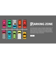 Parking Zone Top View vector image