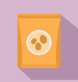peanut pack icon flat style vector image