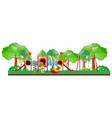 playground scene with kids playing vector image