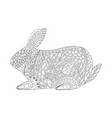 rabbit in the style of entangle for easter vector image