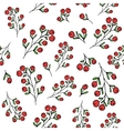 Red berries pattern seamless pattern vector image vector image