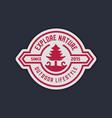 Retro camp badge