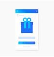 reward gift app mobile ui vector image