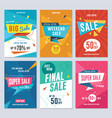 sale discount and promotion flyer set vector image vector image