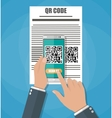 Scan QR code to Mobile Phone vector image