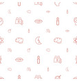 science icons pattern seamless white background vector image vector image