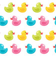 seamless pattern with duck vector image vector image