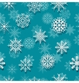 Seamless white snowflakes vector image vector image