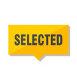 selected price tag vector image vector image