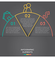 semicircle infographic elements concept vector image