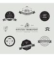 Set hipster modern labels icons