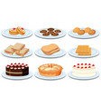 set of different foods vector image vector image