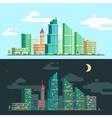 set wide panoramas urban landscape vector image