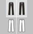 sport pants vector image vector image