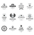 sports clubs and sections logos set vector image