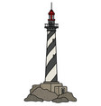 the old black and white lighthouse vector image vector image