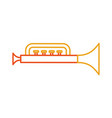 trumpet toy isolated icon vector image vector image