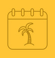 vacations days linear icon vector image vector image