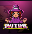 Witch mascot esport logo design