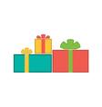 Christmas gifts flat vector image
