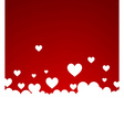 Background with white hearts vector image