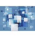 Blue corporate geometry background with squares vector image