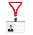 Lanyard with photo vector image