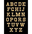 set of stylized gold texture letters with metallic vector image