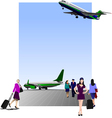 6207 airport vector image