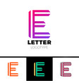 abstract letter e logo design template line vector image