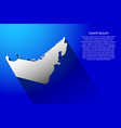 abstract map of united arab emirates with long vector image vector image
