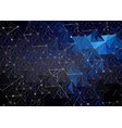 Abstract polygonal space dark blue with