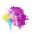 abstract watercolor background template vector image vector image