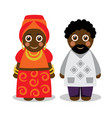 african man and woman in national clothes vector image vector image