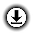 Arrow download button vector image vector image