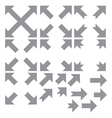 arrow set collection vector image vector image