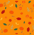 autumn plant flat design seamless pattern vector image