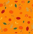 autumn plant flat design seamless pattern vector image