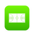 basketball field icon digital green vector image