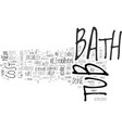 bathtub repairs faq text word cloud concept vector image vector image