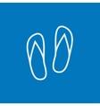 Beach slipper line icon vector image vector image