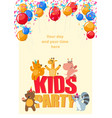 birthday party poster with cute animals having fun